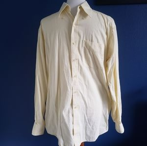 Tommy Hilfiger Pale Yellow Button Down